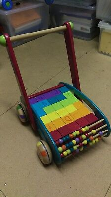 Quality Baby Walker with Blocks - Good Condition!