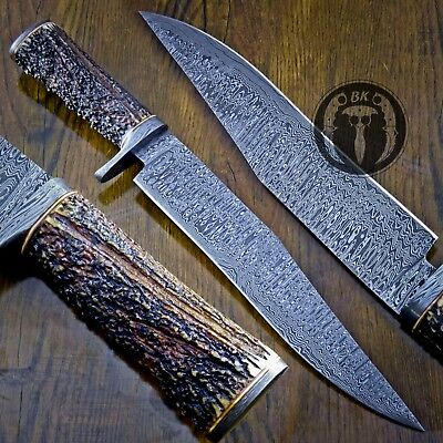 16 5 Awesome Custom Made Damascus Steel Fixed Blade Tactical Knife