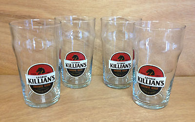 Killian's Irish Red 16 oz Nonic Glass - Set of 4 Killians Glasses - NEW & F/S