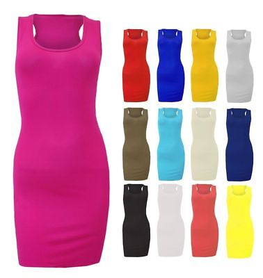 Womens Cotton Stretchy Pack Of Casual Ladies Ribbed T-Shirt Cami Tank Top*Vest