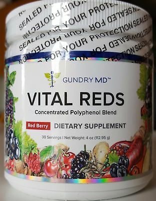 Gundry MD Vital Reds Concentrated Polyphenol blend. Red Berry Dietary Supplement