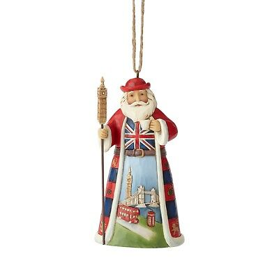 6001509 Jim Shore Christmas Ornament Around the World Santa British NIB
