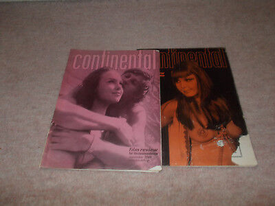 Two 1969 copies of Continental Film Review Magazine. Like Cinema X