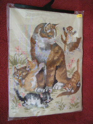 Ginger Cat with Kittens Tapestry
