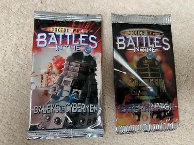 Doctor Who Battles In Tine Cards Uioened Exterminator And Daleks Vs Cybermen