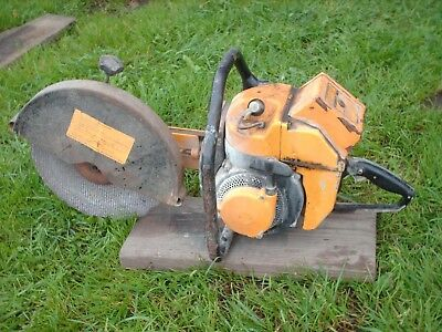 vintage partner concrete metal chop cut off saw 5hp R12 muscle chainsaw 1960's