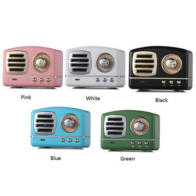 Wireless Retro Bluetooth Speaker Mini Portable Stereo Player Classic Music Dock