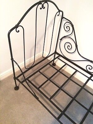 Antique French Ornate Folding Day Bed Wrought Iron