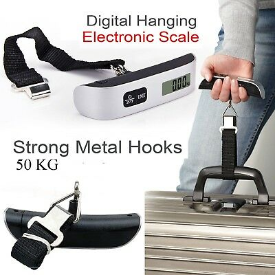50kg digital portable travel handheld luggage weighing scales suitcase bag*A scl