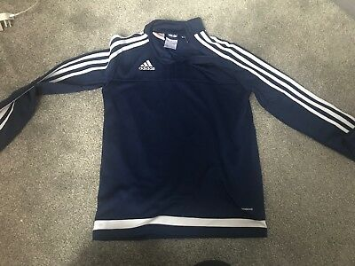 Boys Adidas  Blue Climacool Training Top Age 9-10 Years