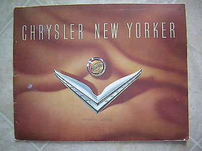 1953 Chrysler New Yorker Sales Brochure