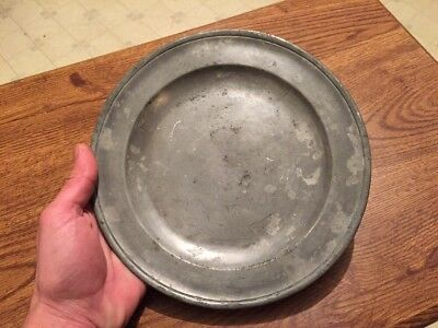 Antique 18th Century Henry Little English Pewter Plate Dish, London