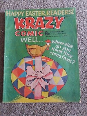 Krazy comic issue dated 25th March 1978