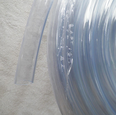 """3/4"""" Id Clear Vinyl Tubing Hose, By The Foot, Condensate Drains Bilge Pumps ++"""