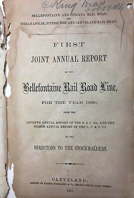 1856-1864 Book Bellefontaine & Indiana Railroad B & I Rr +, I P & C Rr Bee Line