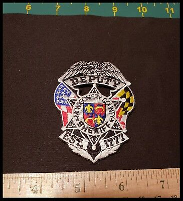 Montgomery County Maryland Deputy Sheriff Patch Md Police Mint Condition Swat