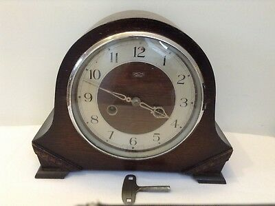 AUTHENTIC VINTAGE SMITHS ENFIELD STRIKING MANTEL CLOCK - 8 Day - RUNS WELL