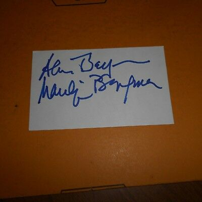 Alan & Marilyn Bergman are American lyricists & songwriters Hand Signed Card