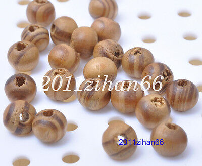 50pcs 10mm WOODEN Round Spacer Beads Unpainted Natural Ball Wood