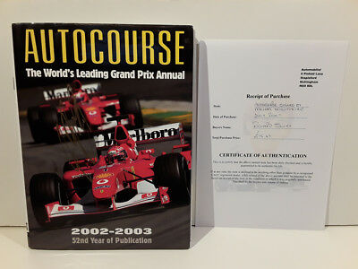Autocourse 2002-2003 - Signed by Michael Schumacher
