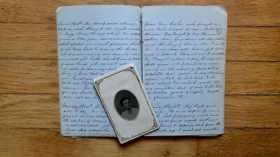 Circa 1861 Handwritten Travel Diary Young Woman Train Steamboat Mississippi 40Pp