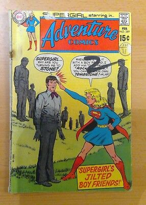 DC Adventure comic - No. 389 - Feb 1970 - features Supergirl - vg/f condition