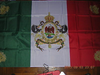 100% NEW Reproduced Flag of Mexican Second Empire 1864-1867 Mexico Ensign 3X5ft