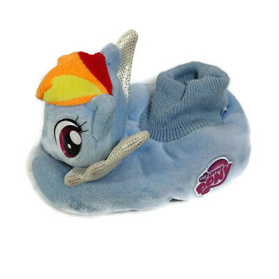 My Little Pony Sock-Top Slippers Girls Toddler Size 9 10 Blue 2014