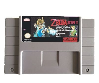 THE LEGEND OF ZELDA 8 in 1 For SNES Goddess Wisdom Ancient Stone Tablets Master
