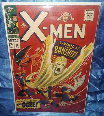 Marvel Comics The X-Men #28 1st Appearance of Banshee! January 1967