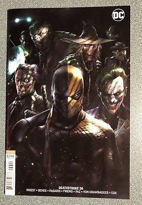 Deathstroke 36 Cover B Francesco Mattina Variant Batman
