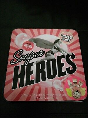 Soap And Glory Special Edition Soaper Heroes Gift Tin Brand New