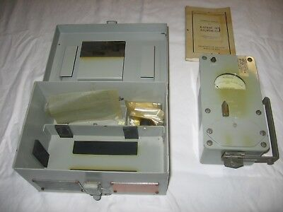 VINTAGE RADIAC SET AN/PDR-43A US Navy Radiation Meter