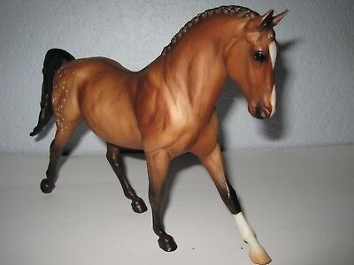 Breyer Molding Co USA Mare Horse Traditional Model Spotted Brown 1 White Sock