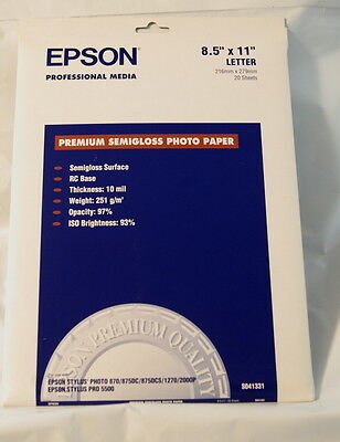 New Epson S041331 Premium Semi Gloss Photo Paper Semigloss 1598