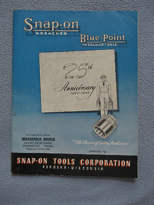 1945 Snap-On Wrenches / Blue Point Mechanic's Tools Catalog ~ Sockets ~ Drills