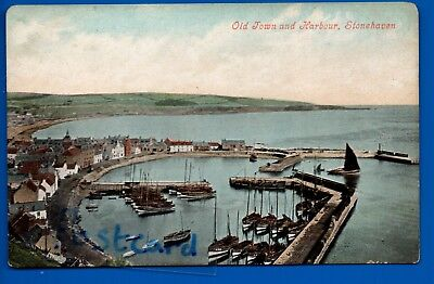 Caledonian Railway Postcard Stonehaven Old Town Harbour Nr Newtonhill Aberdeen