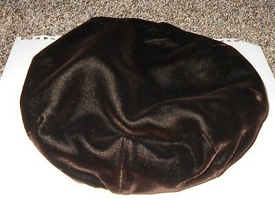 vintage brown velvet beret hat