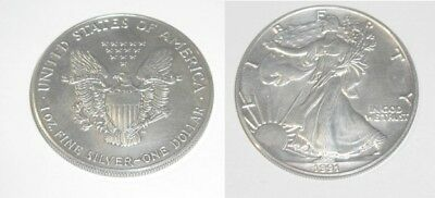 1 x Silver Liberty Eagle one ounce silver bullion round coin .999 fine solid