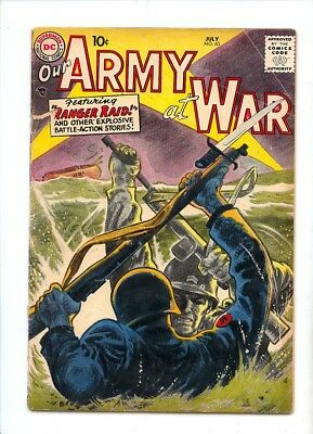 Our Army At War #60 G/vg 3.0 Dc Pre Sgt Rock 1957