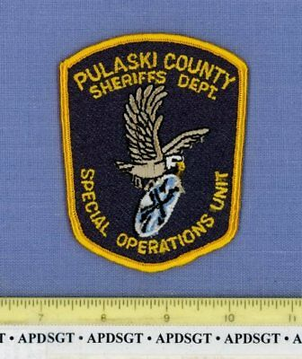 PULASKI COUNTY SHERIFF SWAT SPECIAL OPERATIONS ARKANSAS Police Patch