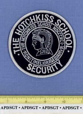 THE HOTCHKISS SCHOOL SECURITY (Old Vintage) LAKEVILLE CONNECTICUT Campus Police