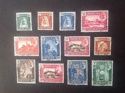 Aden Kathiri State of Seiyun different used stamps plus one extra.
