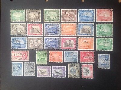 Collection of Aden used stamps, some George VI with overprints.