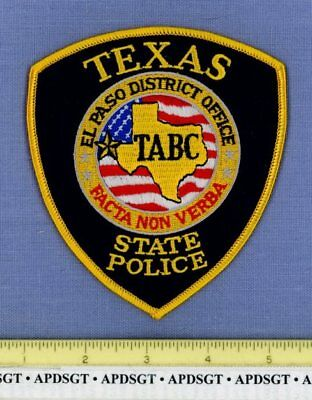 TEXAS STATE ABC EL PASO OFFICE Police Patch TABC ALCOHOLIC BEVERAGE CONTROL