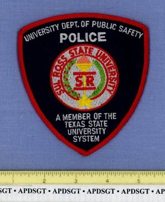SUL ROSS STATE UNIVERSITY PUBLIC SAFETY TEXAS College School Campus Police Patch
