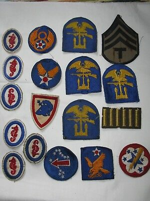 18 Military Patches...Vintage