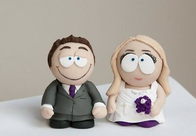 Personalised South Park style wedding cake toppers