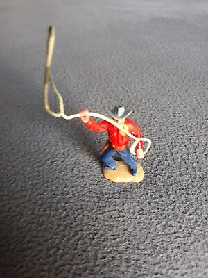 Timpo Toys Cowboy mit Lasso festes Holster rotes Hemd