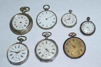 Quantity Of Old Pocket Watches, Some Silver, Montre Gousset, Job Lot